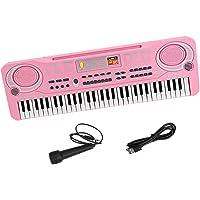Perfeclan 61 Keys Electronic Keyboard Musical Digital Piano with Microphone, Portable Learning Mini Keyboard Electric…