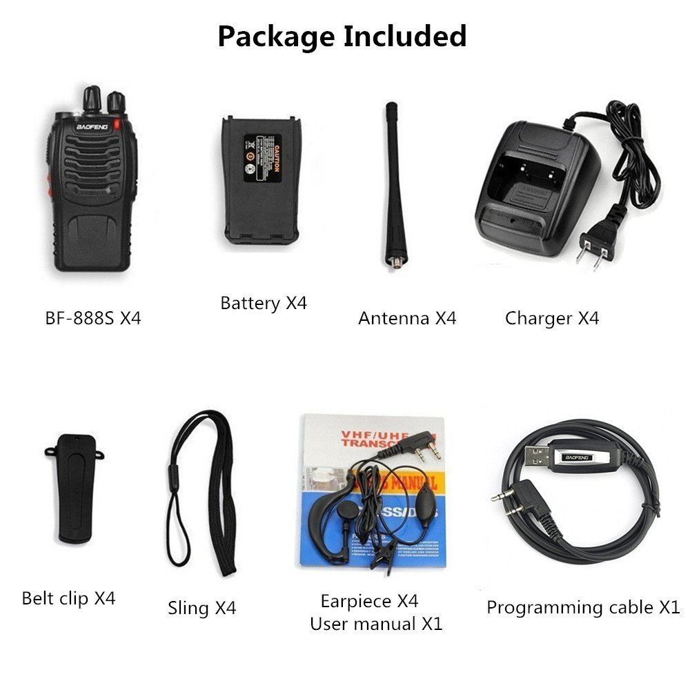 269a69f879 ... 4pcs Baofeng Walkie Talkie