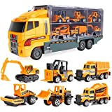 ROKOO 6Pcs/7Pcs Car Children Tractor Gift Toy Alloy Wheels Slide Front Car Educational Toys Model Gift