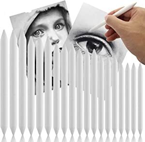 Kuqqi 6 Sets 36 Pcs Artist Paper Blending Stump and Tortillions Art Blenders Double Ended Art Drawing Pens for Student Sketch Drawing