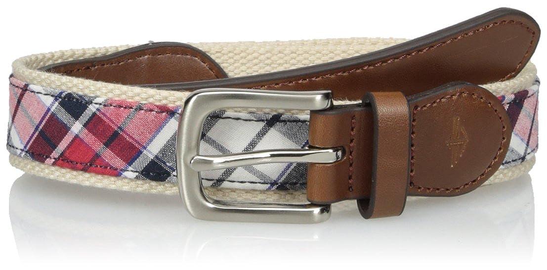 Dockers Boys' Big Casual Plaid Fabric Inlay Belt Dockers Boys 8-20 Belts 12DK030004