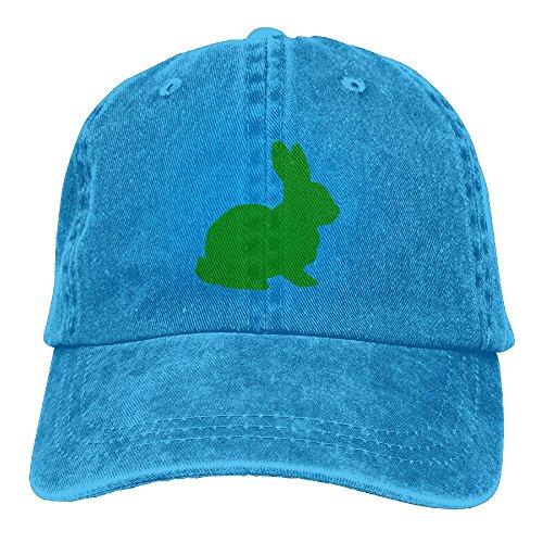 Uanqunan Cartoon Rabbit Unisex Cotton Denim Baseball Cap Adjustable Strap Low Profile Plain Hats RoyalBlue (Denim And Diamonds Outfit Ideas)