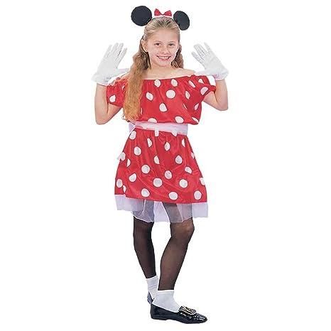02e60cf4733c Costume di Carnevale Vestito Topolina Minnie da Bambina Maschera TG M 7 10  Anni