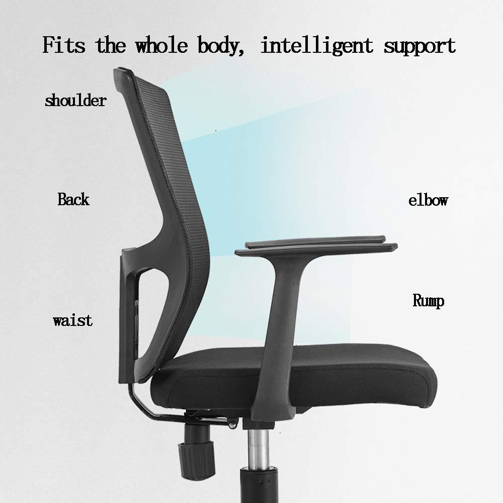 LJHA kontorsstol, justerbar och vridbar hemstöd ergonomisk uppgiftsstol med armstöd kontorsstol (färg: Grön) gRÖN