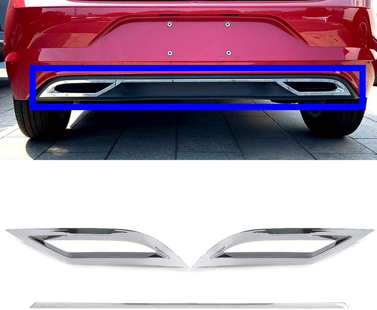 QQKLP Rear Bumper Diffuser Lip Spoiler Air Outlet Exhaust Strip Cover Trim for Volkswagen for VW Polo MK6 Polo Plus 2018 2019 2020+