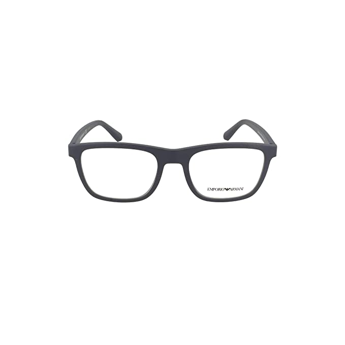 Emporio Armani 0EA3140, Monturas de Gafas para Hombre, Matte Blue, 53