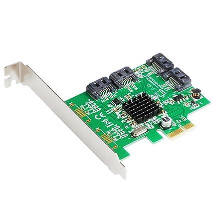 Amazon com: Marvell 88SE9215 4 Ports SATA 6G PCI Express