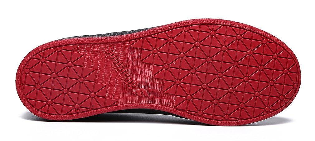 Mens Classic Skateboard Anti-Skid Shoes Leather Printed Captain Tsubasa Walking Shoes