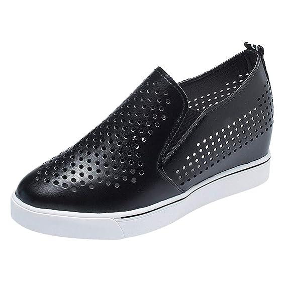 Zapatillas Zapatosde Deportes Mujer Respirable Luckycat Mocasines ARL4jq35c
