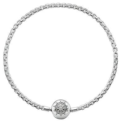 Thomas Sabo Women-Bracelet Karma Beads 925 Sterling Silver black Length 18 cm KA0003-653-11-L19 gFieBq