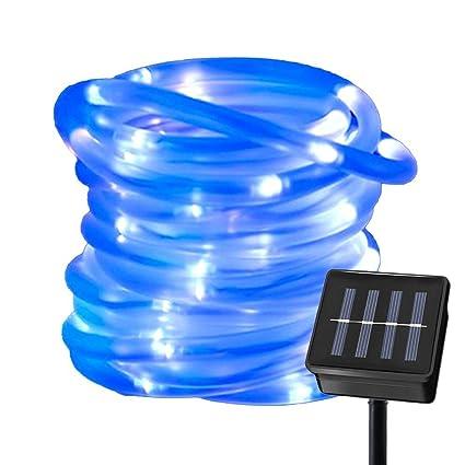 Free Shipping 5m 50leds Tube Garden Party Waterproof Solar Power Led Rope Light Fairy String Lights & Lighting