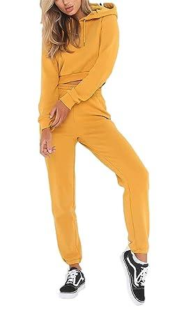 Mujer Chandal Set Elegantes Moda Colores Otoño Primavera Sólidos ...