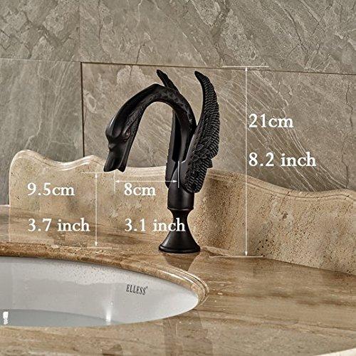 GOWE Dual Handles Bathroom Basin Sink Faucet Swan Design Widespread 3 Holes Mixer Tap Oil Rubbed Bronze Finish 1