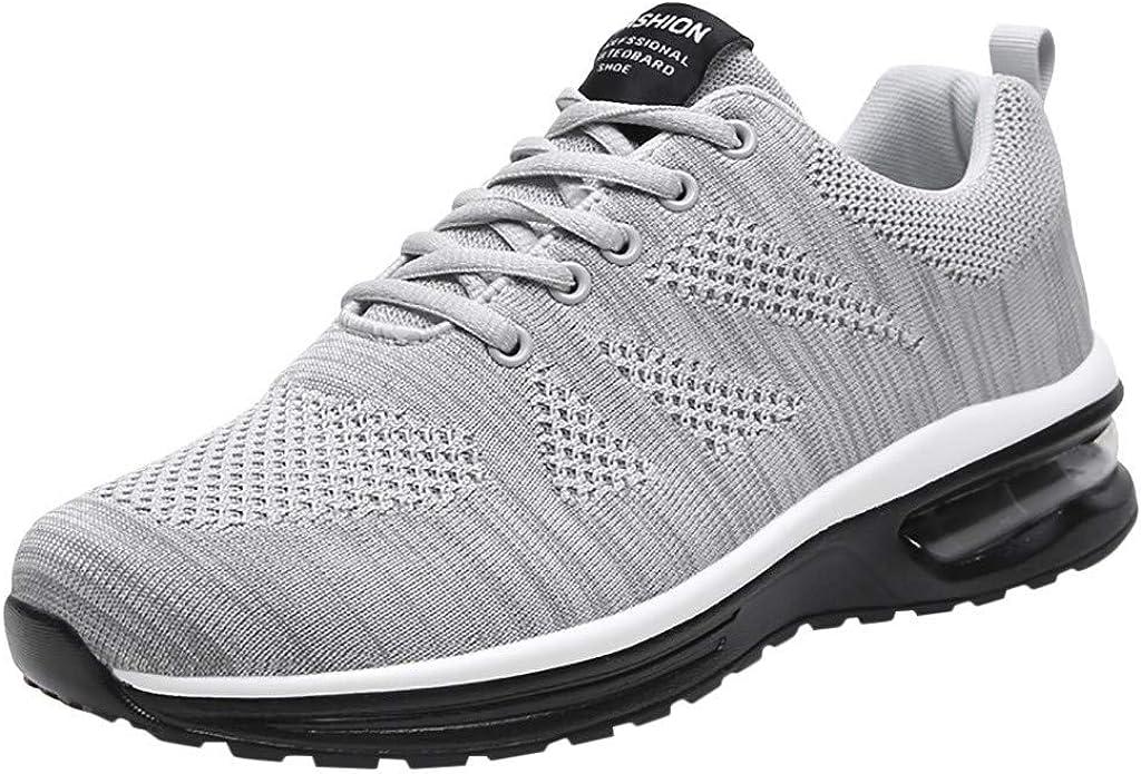 OPAKY Zapatillas Deporte Hombre Zapatos para Correr Athletic Cordones Zapatillas de Deporte Respirable Deportes Zapatos Running Hombre Zapatos Voladores de Malla Tejida Zapatos Casuales: Amazon.es: Zapatos y complementos