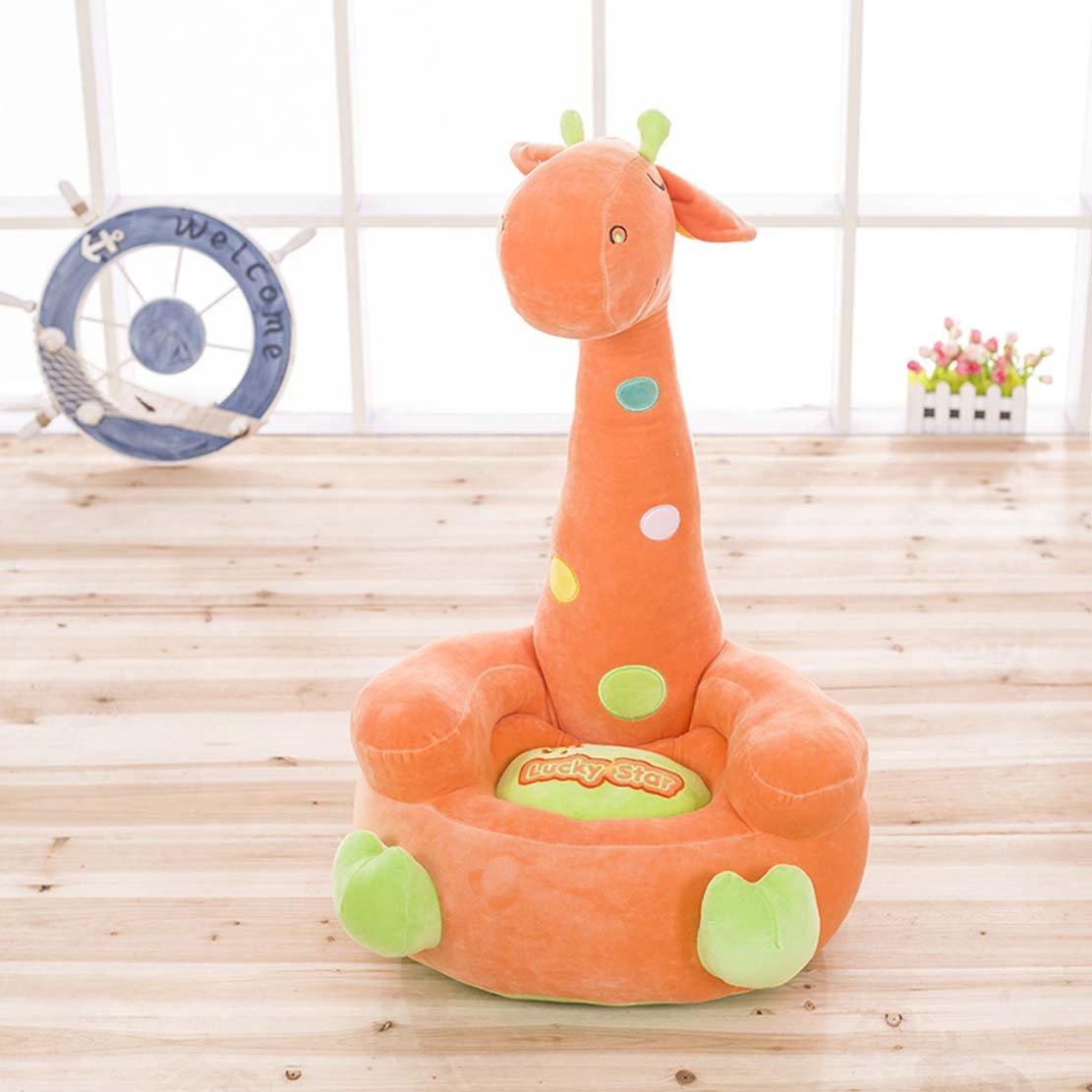MAXYOYO Farbeful Polka Dot Giraffe Gefülltes Plüsch Sofa, Cute Giraffe Plüsch Soft Sofa Sitz, Cartoon Tatami Stühle, Geburtstag Weihnachts Geschenke, für Jungen und Mädchen, Orange, 75  45  35cm