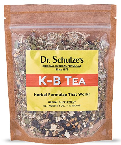 Cheap Dr. Schulze's | K-B Tea | Kidney & Bladder Support | Herbal Tonic | Detoxifying Formula | Dietary Supplement | Two Day Cleanse | Promotes Healthy Urine Flow | Soothes Urinary Tract | 4 Oz. Pack