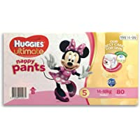 Huggies 80PK Ultimate Size 5 Girls 14-18kg Toddler/Walker Nappy Pants 12h Protc.