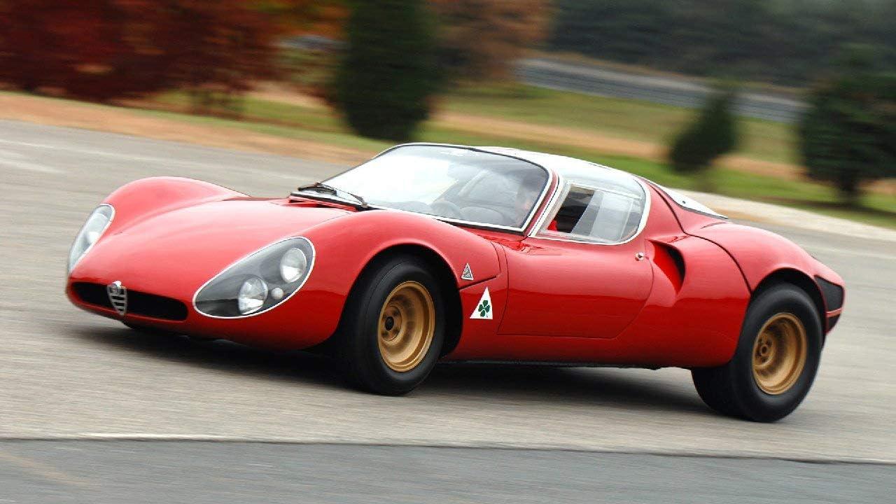 Lilarama USA 1967-Alfa-Romeo-Tipo-33-Stradale-Prototipo-V6- - Super Car Classic Car - Giant Poster Print - Cool Wall Decor Art Print Poster