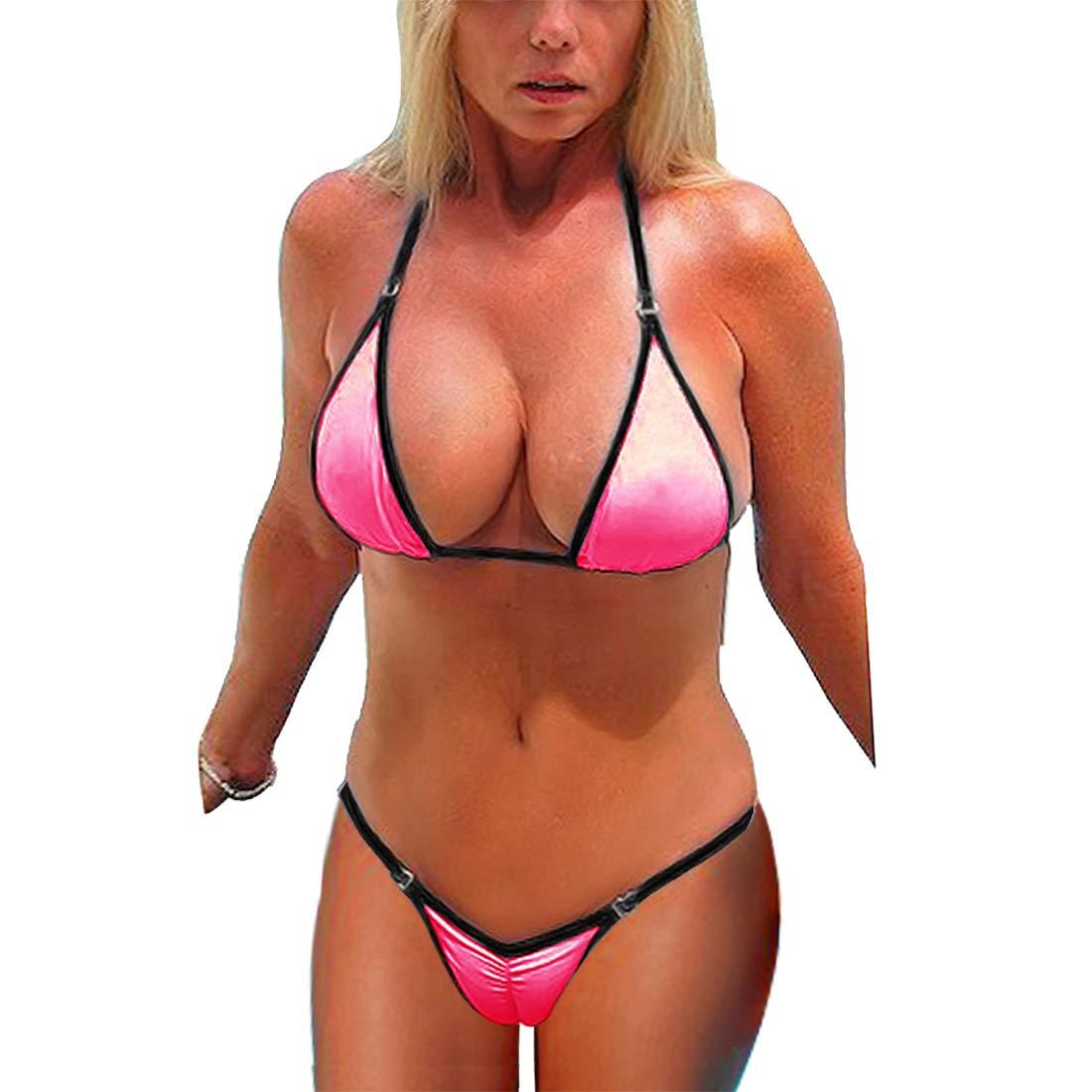 TALLA XL. SHERRYLO Scrunch Butt String Bikini Brazilian Traje De Daño De Mujer