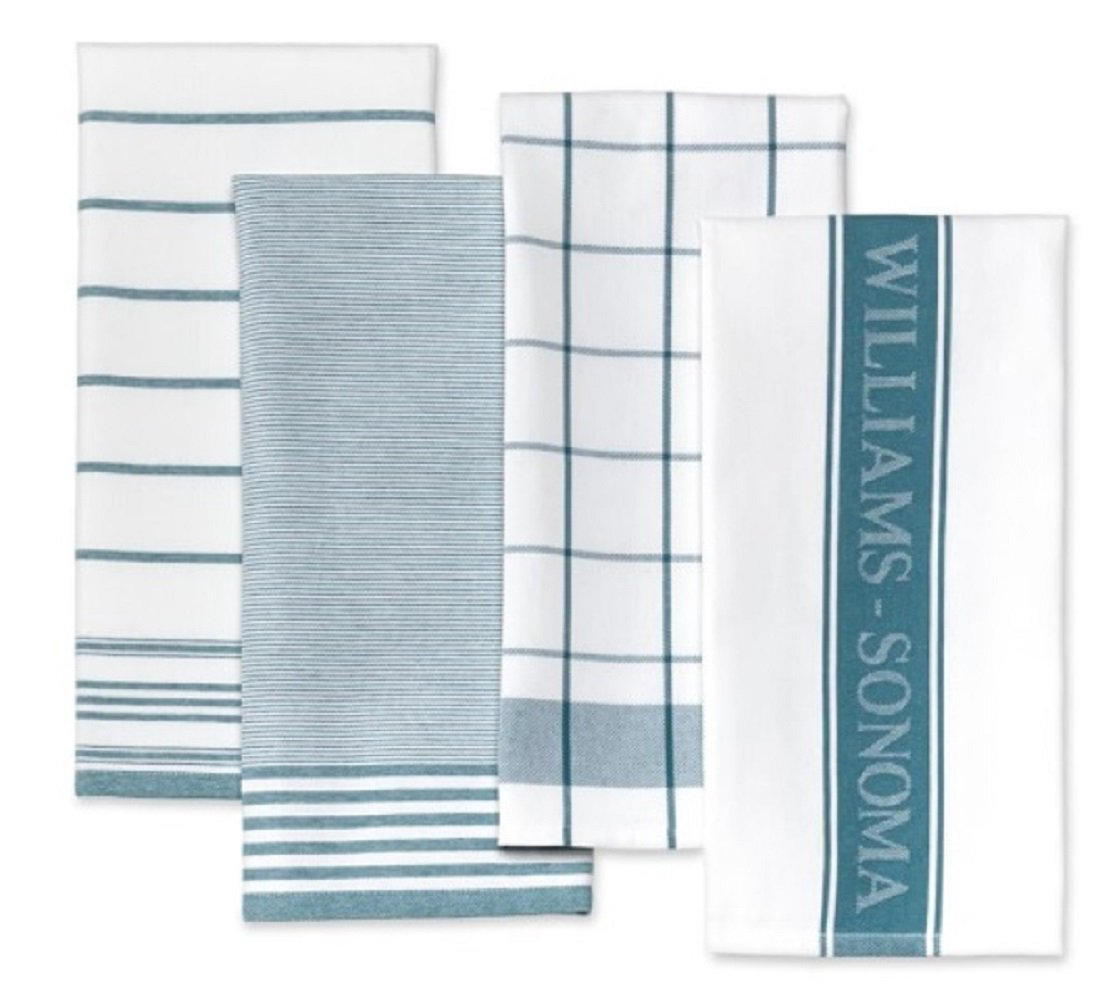 Amazon.com: Williams Sonoma Kitchen Towels (Set of 4) (French Blue ...