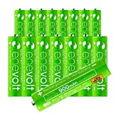 enevolt AAA 900mAh Ni-MH Rechargeable Batteries with 1,000 Recharge Cycles and Low Self-Discharge, Pre-Charged - 8 Pack