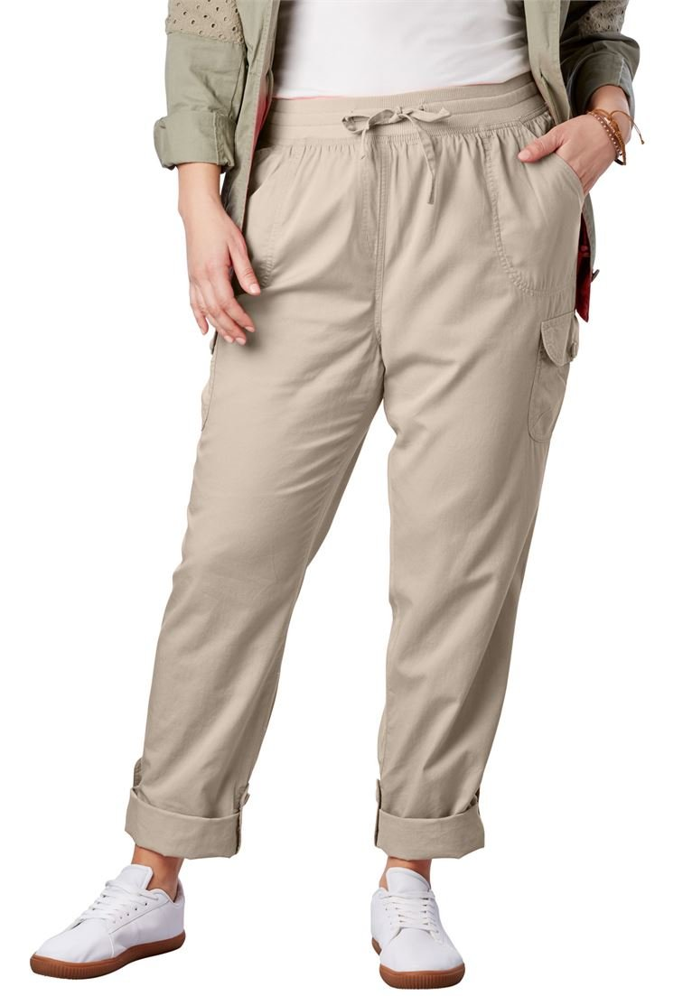 Woman Within Women's Plus Size Petite Convertible Length Cargo Pant