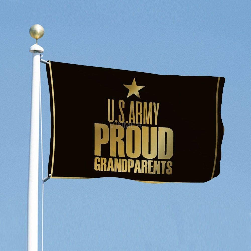 VinMea Funny Flags Us Army Proud Grandparents, Decoration Flag for Dorms Room Garden Yard 3x5 Feet / 35x59 Inch
