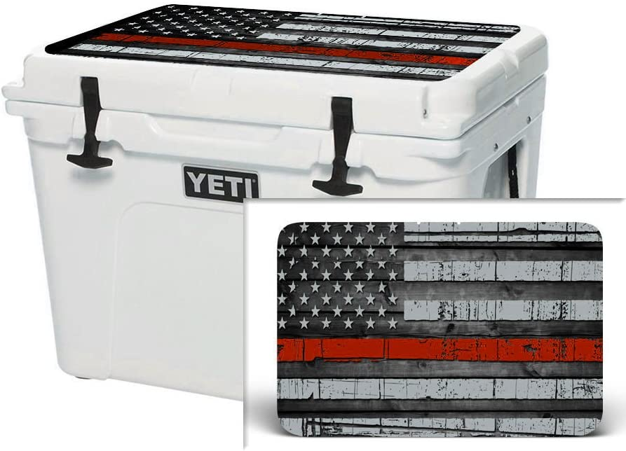 USATuff Sticker Wrap Lid Kit fits Grizzly 20qt Cooler USA Red Line Flag