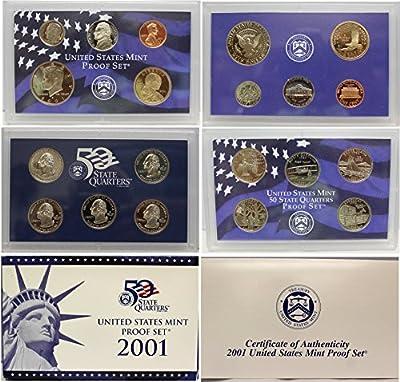 2001 S US Mint Proof Set OGP