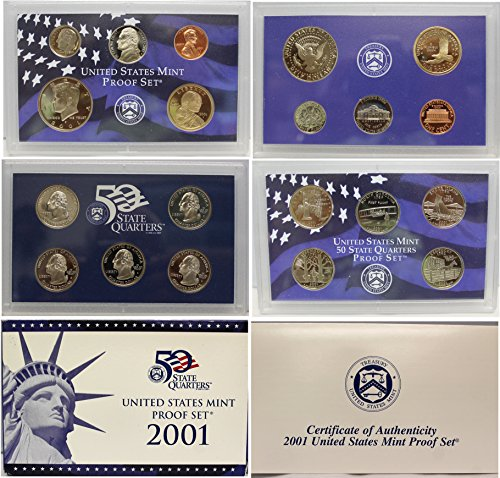 2001 S US Mint Proof Set OGP