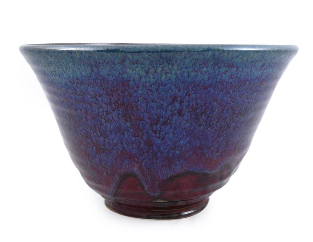 Plum Perfect 3-Piece Large Nesting Mixing Bowl Set, American Made Stoneware Pottery by Modern Artisans (Image #5)