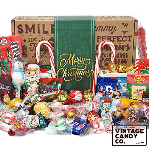 CHRISTMAS CANDY CARE PACKAGE LOADED GIFT BOX Filled With Milk Chocolate Santas, Snowman, Gifts, Trees, Seasonal Foil Candies, Rock Candy + More! PERFECT For Girls Boys Kids College Students Adults