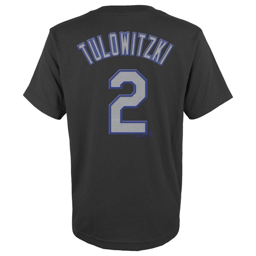 best loved e3c41 4eea4 Majestic Troy Tulowitzki Colorado Rockies Youth MLB Player Black T-Shirt