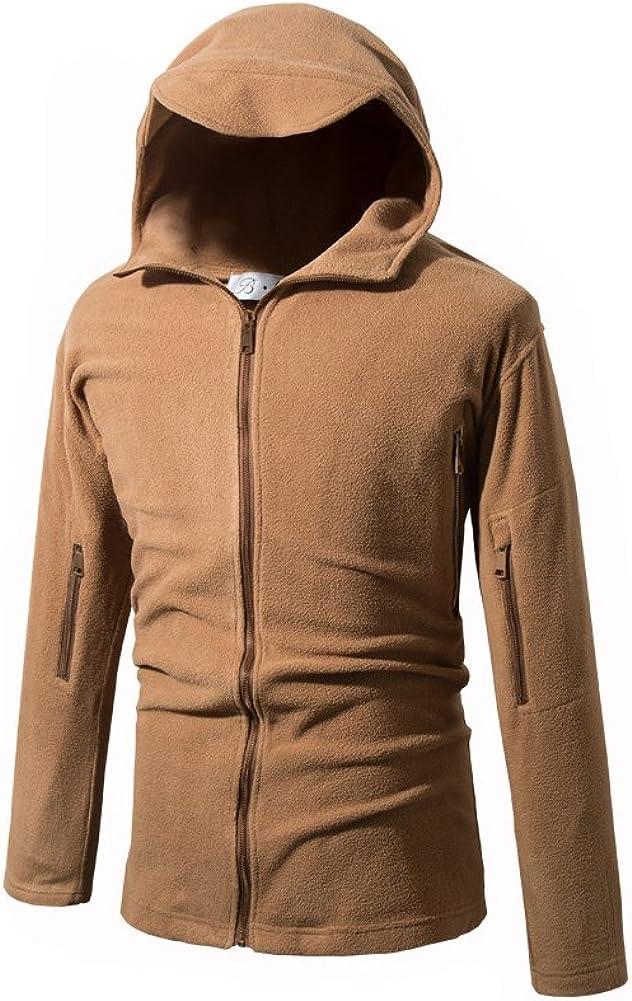 Polar Fleece Coat Softshell Casual Outerwear Full Zip Feicuan Men Hoodie Jacket
