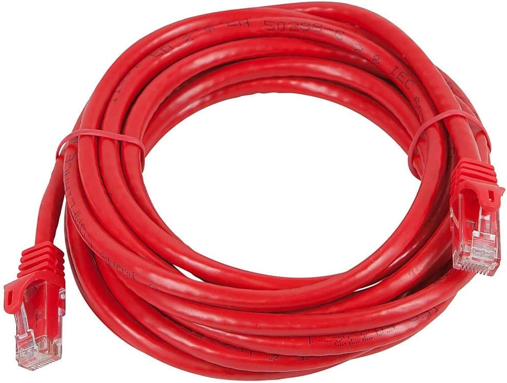 Cat5e RJ45 Plug Red SANOXY Network Cables Network Cable 20FT