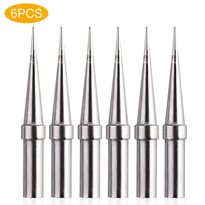 6pcs Replacement Tips Weller ET Soldering Iron Tips for WES51/50, WESD51, WE1010NA, PES51 / 50, LR21 ET Tip Series (6PCS-02)
