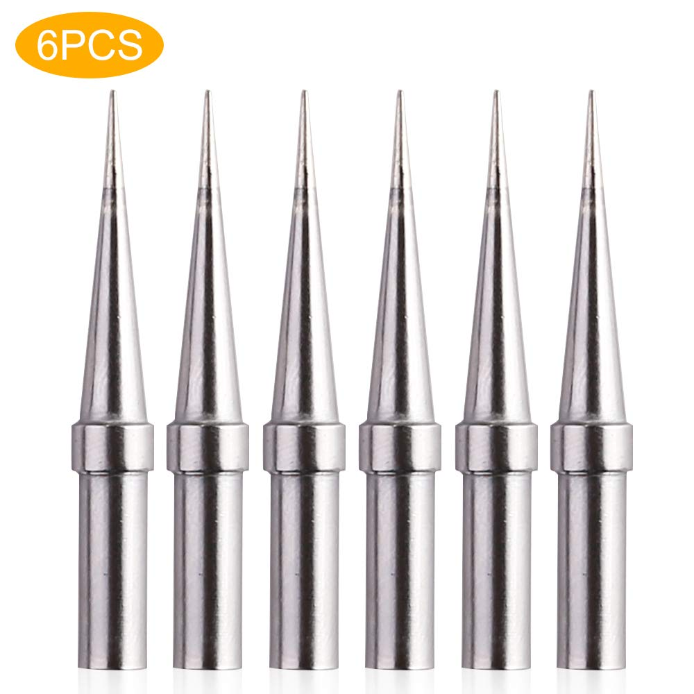 6pcs Weller ET Soldering Iron Replacement Tips for WES51/50,WESD51,WE1010NA,PES51 / 50,LR21 ET Tip Series (6PCS-02) by IGREAT