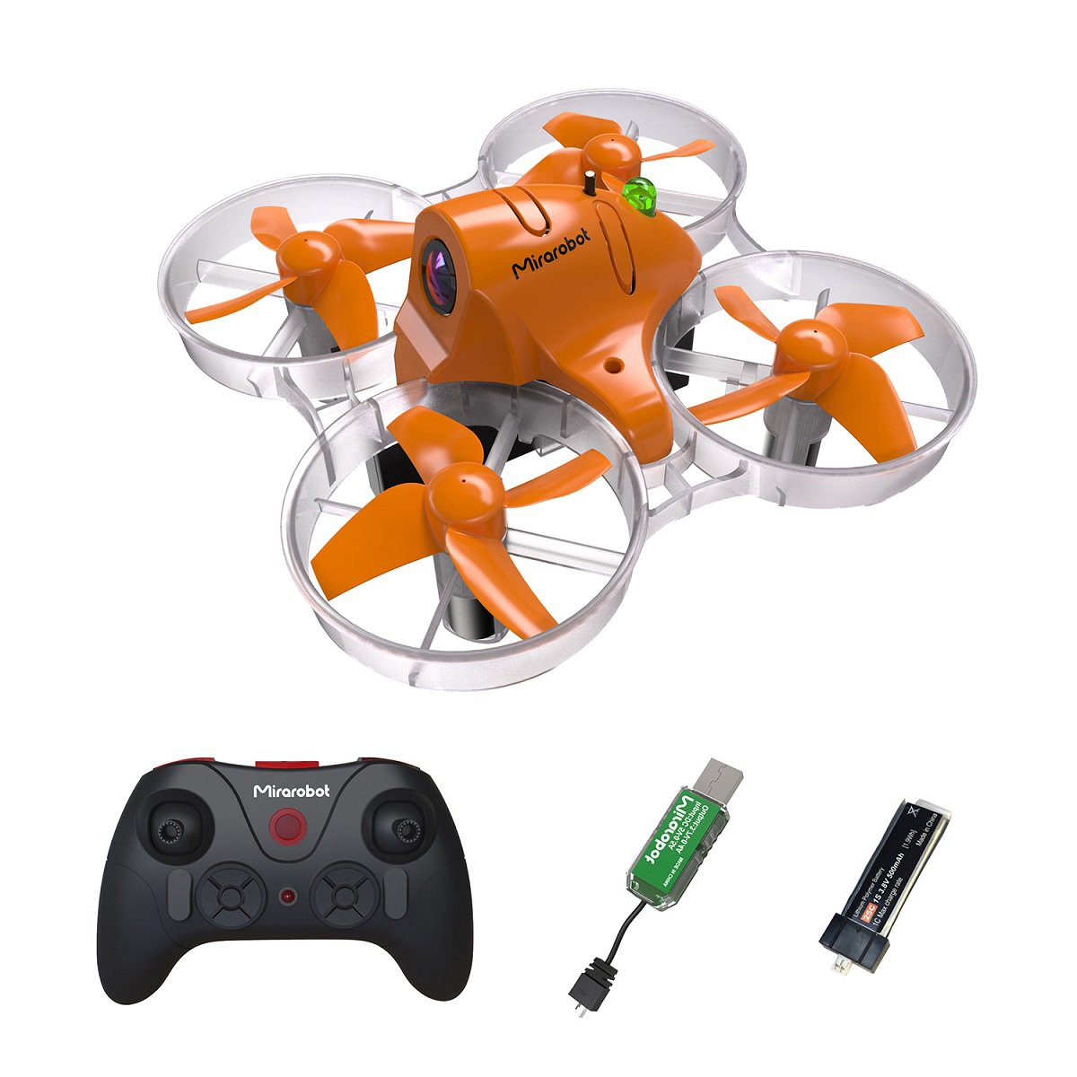 Mirarobot S85 FPV Drone Racing 120M Micro Quadcopter Tiny Whoop, 5.8G 40CH 6-Axis 8.5mm Motor Powerful, High -Voltage Battery, Automatically Increase Stability RTF