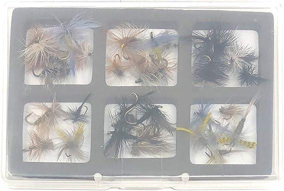 Fishing Flies pack de 6 Noir Zebra Truites Mouches Goldhead Zebra Moucherons taille au choix