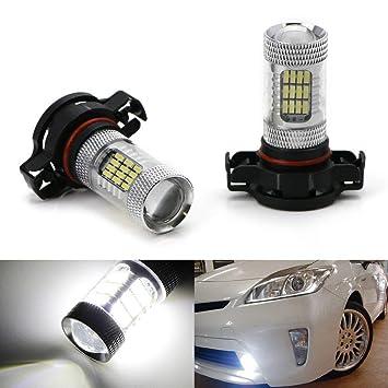ijdmtoy x-bright blanco 48-SMD 5202 H16 LED bombillas W/reflector espejo diseño para luces antiniebla o DRL: Amazon.es: Coche y moto