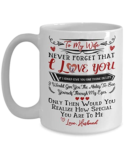 Amazon To My Wife I Love You Mug Gift For Wife Best Gift