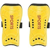 Espinilleras de fútbol: un par de espinilleras de fútbol para niños, equipo de protección para niños, protector de piernas de entrenamiento, protectores de piernas de entrenamiento(Amarillo)