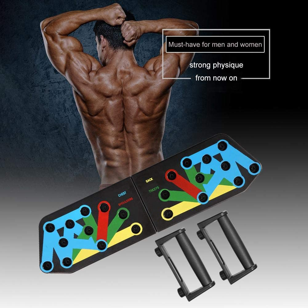 aniceday Fitness Push Up Board Multifuncional Plegable Push-up Training Stand Equipo De Fitness Equipo De Entrenamiento De Brazos para Interiores M/úsculos Abdominales Al Aire Libre