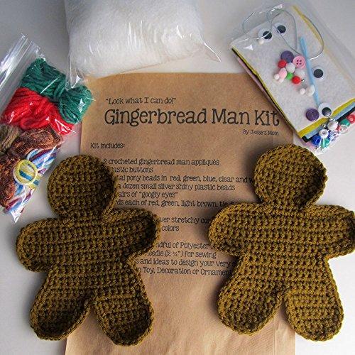 amazon com crochet gingerbread man craft kit holiday craft kit