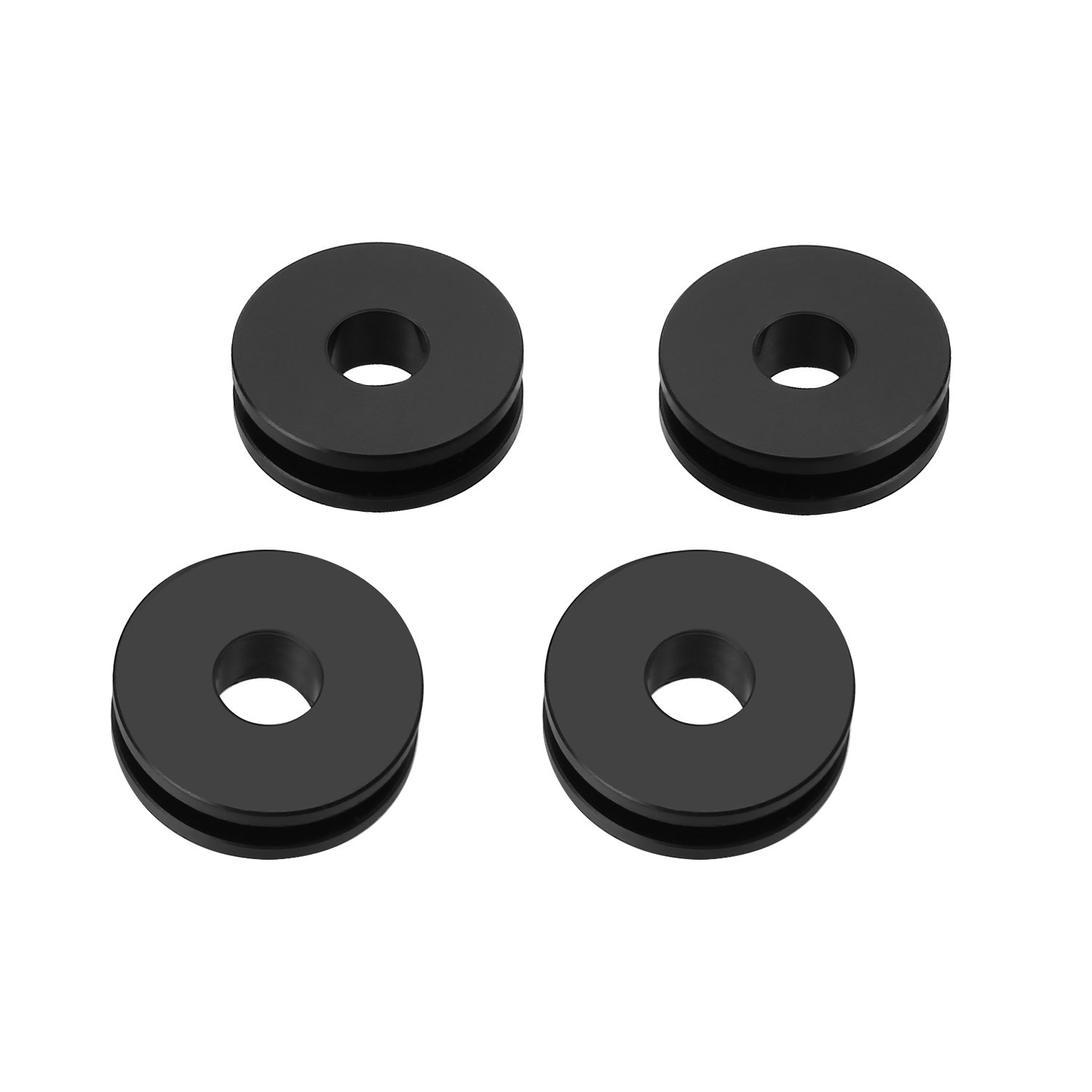CICMOD Detachable Windshield Replacement Bushing Grommets for Harley Road King Softail Black