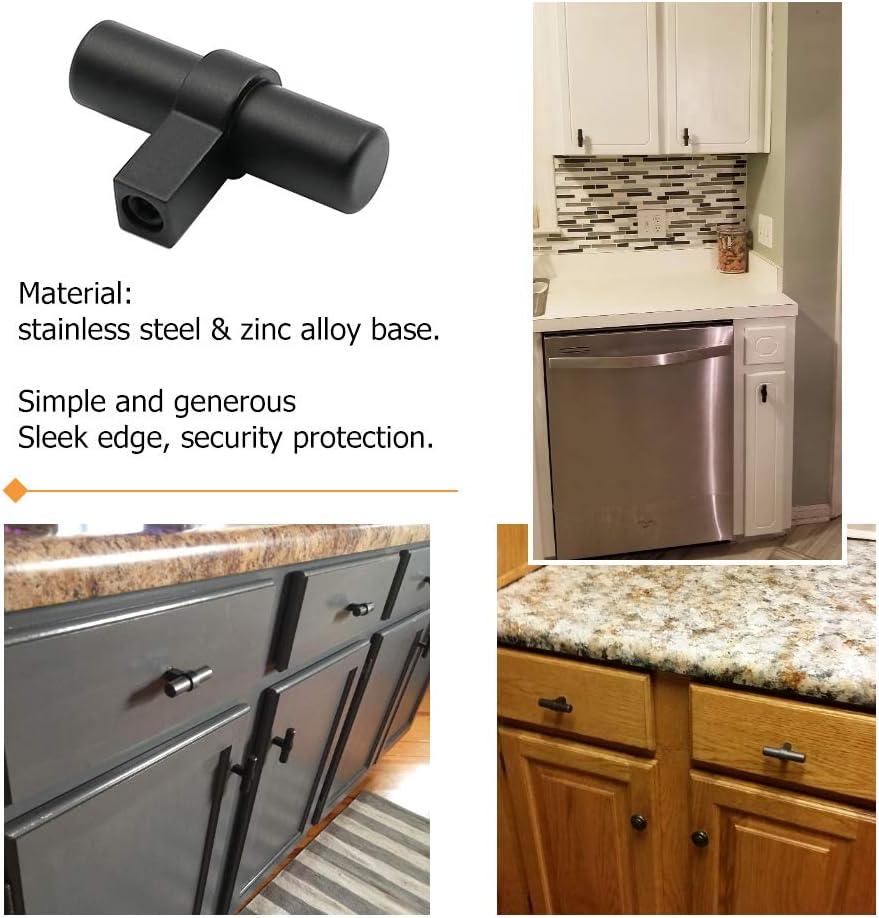 PHLST16BK Bathroom Cabinet Handles Kitchen Cabinet Pulls 4 Center to Center 15 Pack Cabinet Pulls 3-3//4 inch Black Kitchen Cupboard Handles