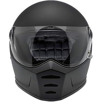 Biltwell Lane divisor sólido Full-Face – Casco de Moto soporte de negro