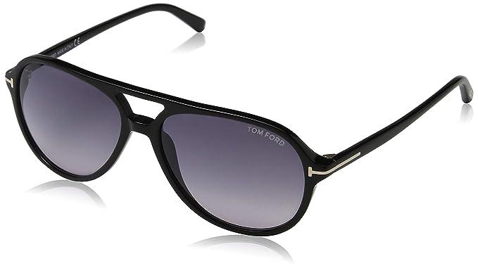 dcceba19f7d Tom Ford Unisex Adults  FT0331 01B 58 Sunglasses