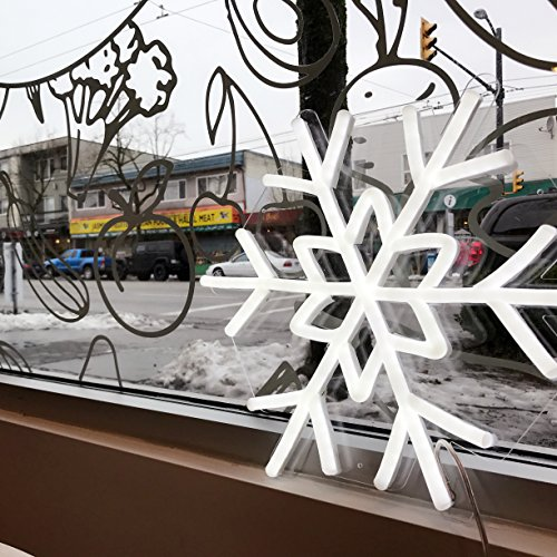 DragonX LED Neon Sign Light-Home and Party Decorations-12 Volts PVC Tube Acrylic Wall Art-Big Snowflake by DragonX (Image #4)