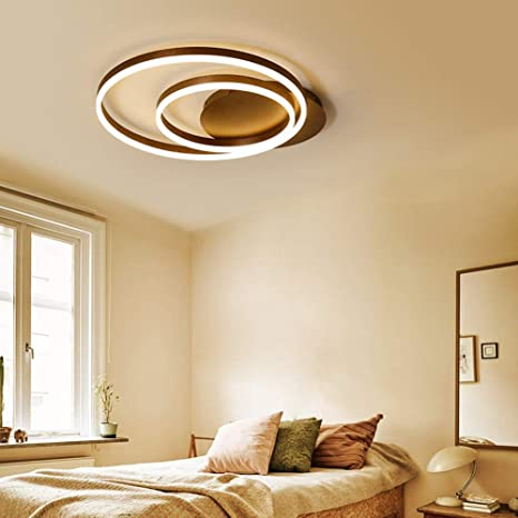 sxtylqq Lámpara de Techo/lámpara de Techo LED de 2 Anillos ...